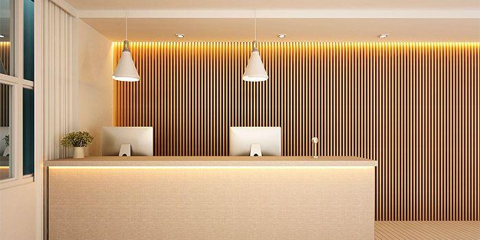 Interiorismo recepción oficina